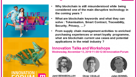 Intervention MAPIC : La Blockchain changera-t-elle le visage du retail